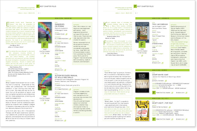 LR Communication Design : First Chapter Plus - logo catalog design